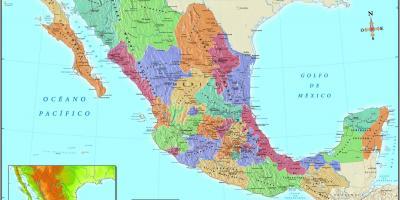 Mexico City Map Mapy Mexico City Mexiko